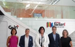 El presidente de ANCES y el director general de EBN visitan el CEEI de Navarra