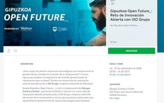 Gipuzkoa Open Future_ lanza su primer reto enmarcado en el sector gastronómico junto a IXO Grupo