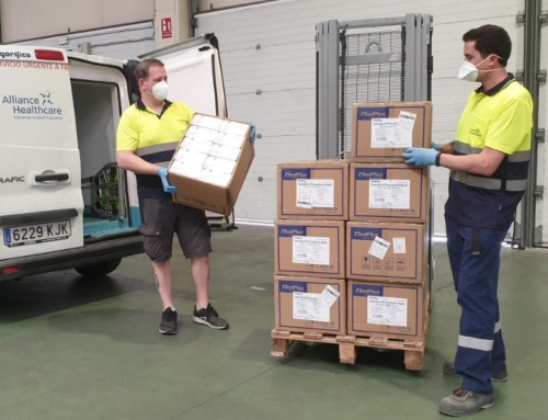 Arahealth, el clúster de salud que opera desde CEEIARAGON, empieza a distribuir 3,3 millones de mascarillas
